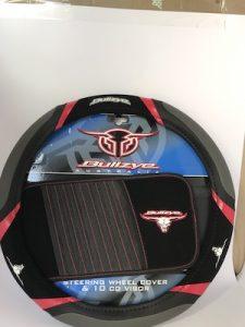 Bulls eye steering wheel cover