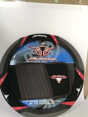 Bulls eye steering wheel cover