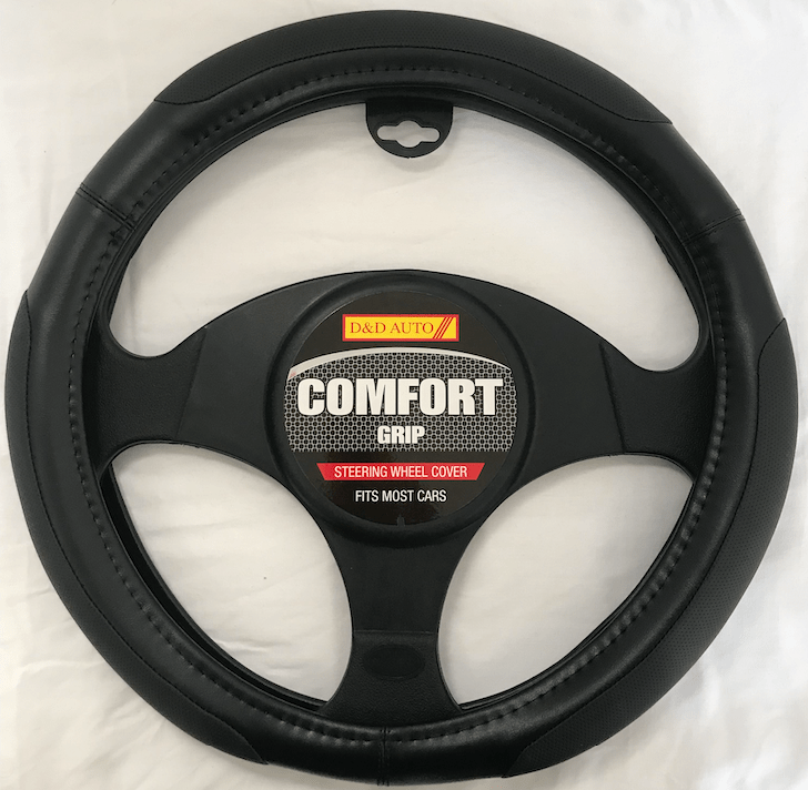 COMFORT GRIP BLACK STEERING COVER