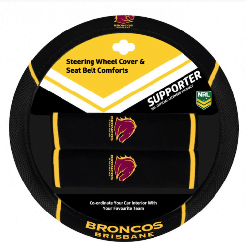 NRL Steering Wheel Cover BRONCOS