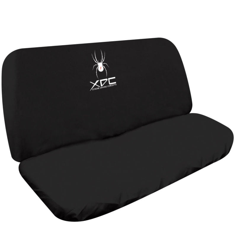 XDC SLIP ON REAR SEAT COVER BLACK SPIDER