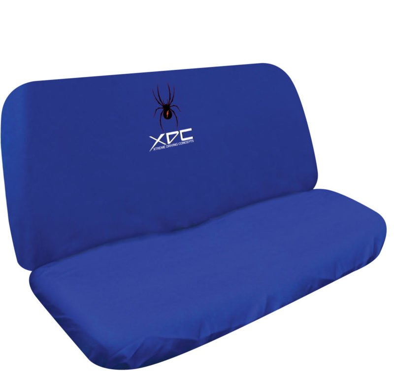 XDC SLIP ON REAR SEAT COVER SPIDER BLUE