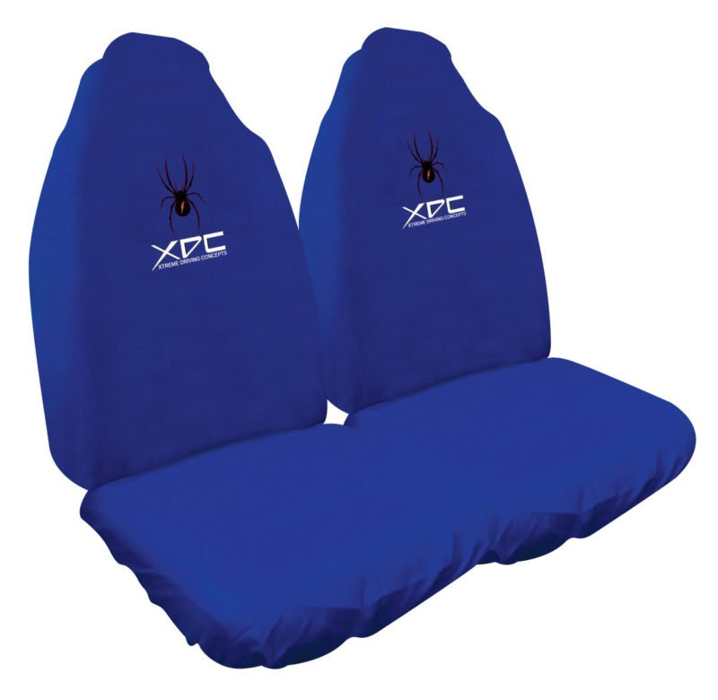 XDC SLIP ON SEAT COVER BLUE SPIDER
