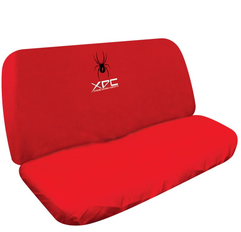 XDC SLIP ON REAR SEAT COVER SPIDER RED