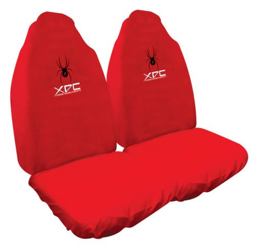 SLIP ON RED SPIDER SEAT COVERS WWW.DDAUTO.COM.AU