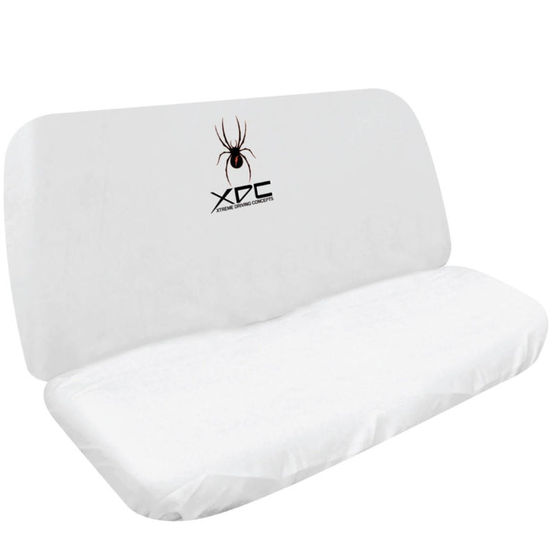 XDC SLIP ON REAR SEAT COVER WHITE SPIDER