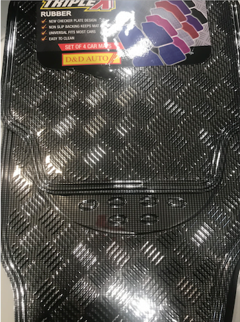 CARBON MATS SET OF 4