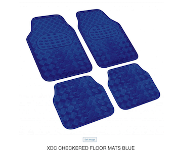 XDC BLUE CHECKERED FLOOR MATS