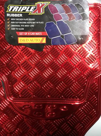 XDC CHECKERED FLOOR MATS RED