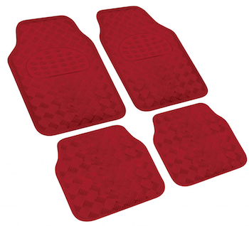XDC CHECKERED RED FLOOR MATS