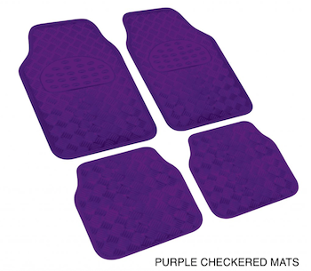 XDC PURPLE CHECKERED FLOOR MATS