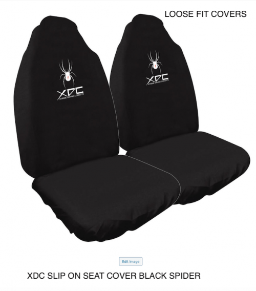 XDC SLIP ON SEAT COVER BLACK SPIDER