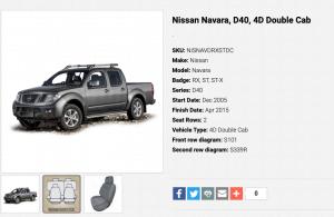 to suit-NISSAN NAVARA D40 05-15