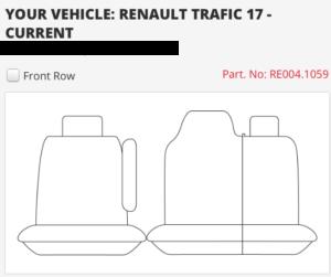 RENAULT TRAFIC 17 ON