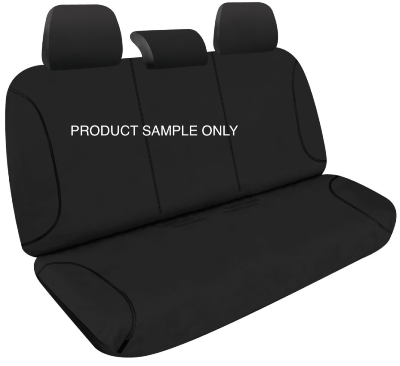 CANVAS BLACK SEAT COVER REAR SAMPLE