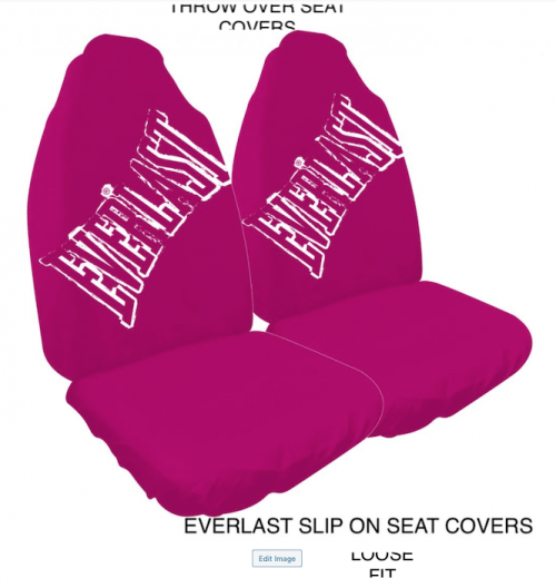 EVERLAST PINK SLIP ON SEAT COVERS