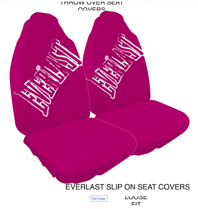 EVERLAST PINK SLIP ON SEAT COVERS