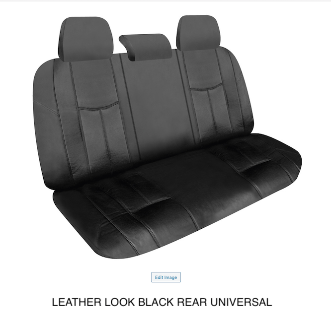 LEATHER LOOK BLACK REAR UNIVERSAL