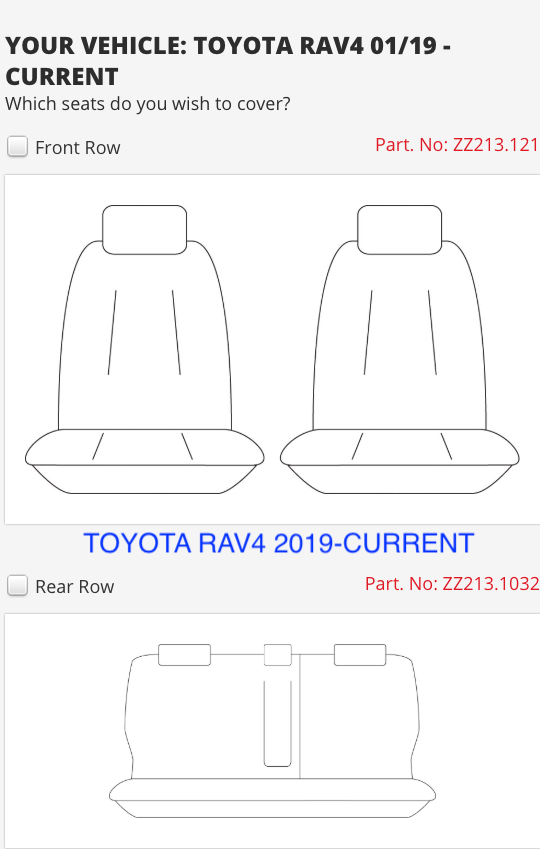 TOYOTA RAV4 1/2019 ON
