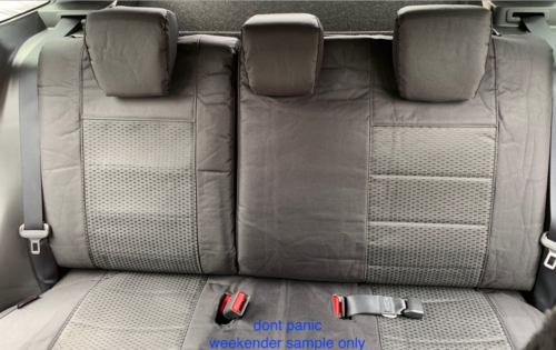 WEEKENDER BLACK TAILORED REAR SEAT