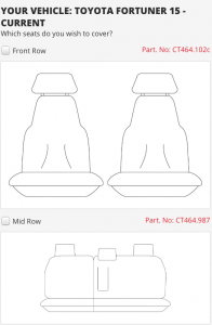 FORTUNER FRONT & MIDDLE