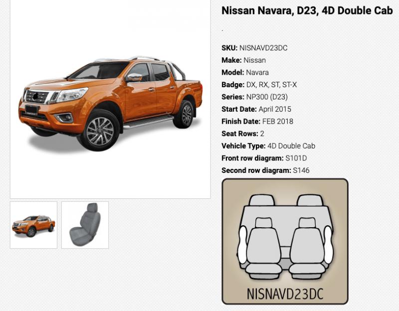to suit-NISSAN NAVARA 1/15-2/18