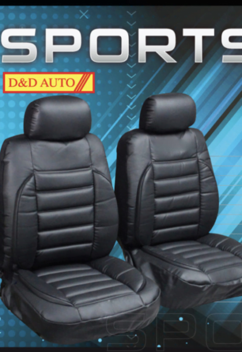 BLACK LEATHER LOOK PADDED SEAT CUSHION