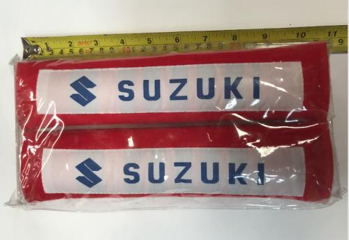 SUZUKI RED SEAT BELT PROTECTOR