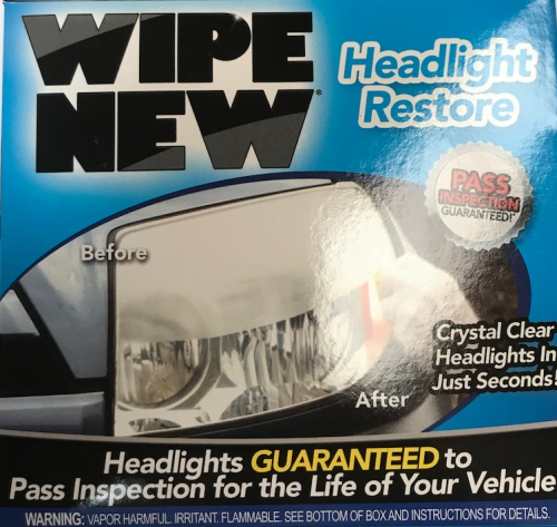WIPES HEADLIGHT RESTORER