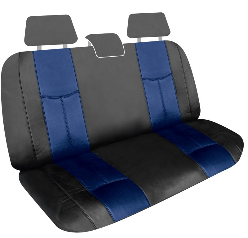 LEATHER LOOK BLUE REAR UNIVERSAL
