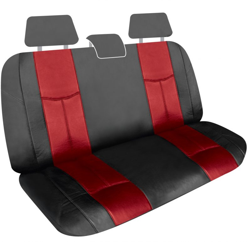 LEATHER LOOK RED REAR UNIVERSAL