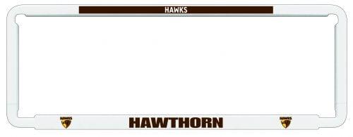 AFL NUMBER PLATE FRAME HAWTHORN HAWKS