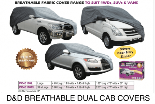 BREATHABLE COVERS 4WDs,SUVs,& VANs