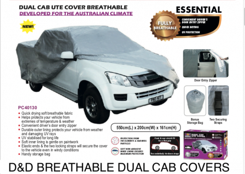 BREATHABLE DUAL CAB UTE COVERS