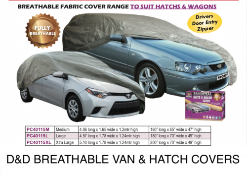 BREATHABLE CAR COVER HATCH AND WAGON