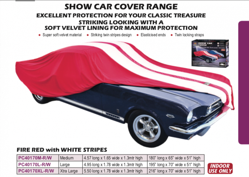 SHOW CAR COVER RED