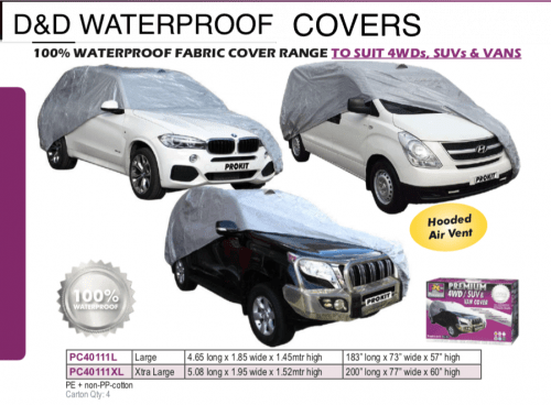 WATERPROOF 4WDs,SUVs,& VAN COVER