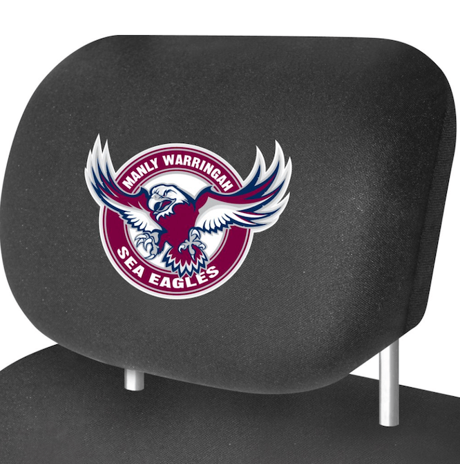 NRL MANLY SEA EAGLES HEADREST COVERS