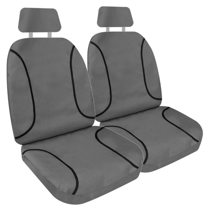TUFF CANVAS GREY FRONT SEAT COVERS