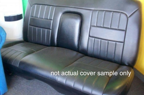 BENCH REAR SEAT LEATHER LOOK