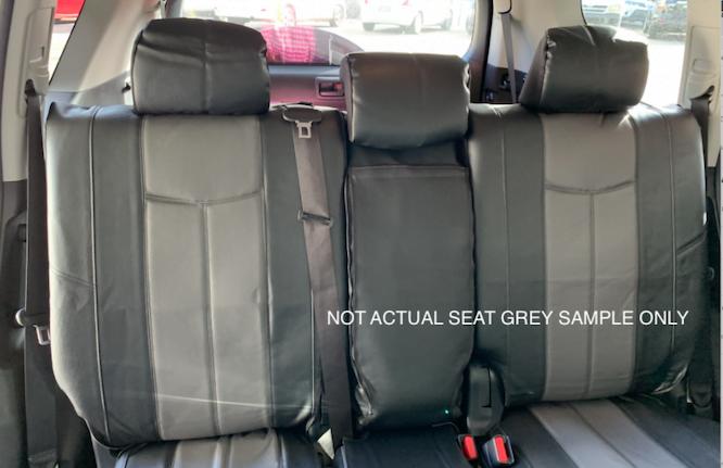 LEATHER LOOK GREY REAR SEAT WWW.DDAUTO.COM.AU