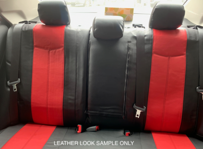 LEATHER LOOK SPLIT REAR SEAT WWW.DDAUTO.COM.AU