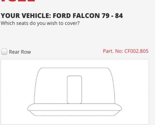 XD XE FALCON 79-84 REAR SEAT